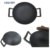 Pre-seasoned Chinese big cast iron two handle wok with wooden lid