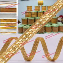 Bias & Stand Chevron Gold Mylar Military Lace