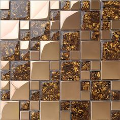Glass Metal Mix Marble Mosaic Tiles Mixed Resin Mosaic Tile