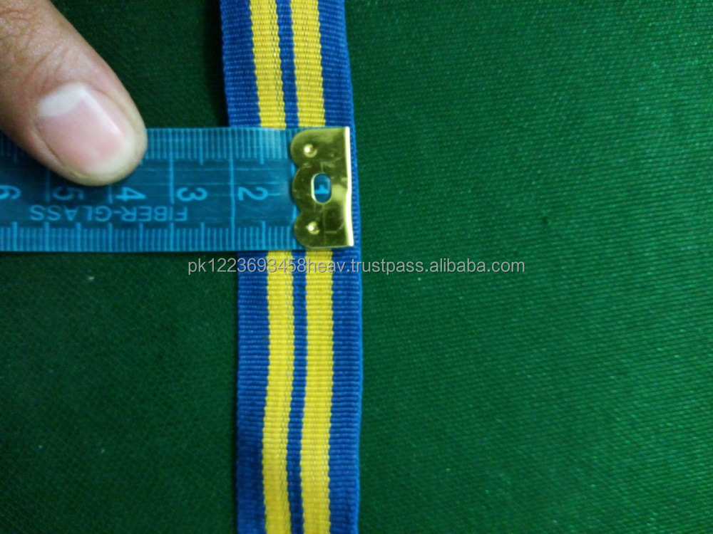RANK TRESSES LACE BLUE AND YELLOW CELLOPHANE BRAID MILITARY UNIFORM BRAID