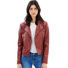 Womens Vegan Leather Biker Jacket 'Cassandra'