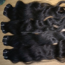 Virgin remy human hair Machine weft hair extension accept PayPal