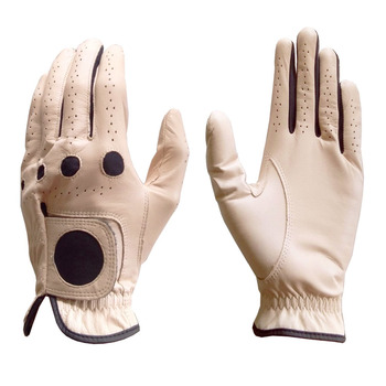 Best Selling Golf Glove Full Cabretta Leather Color Beige