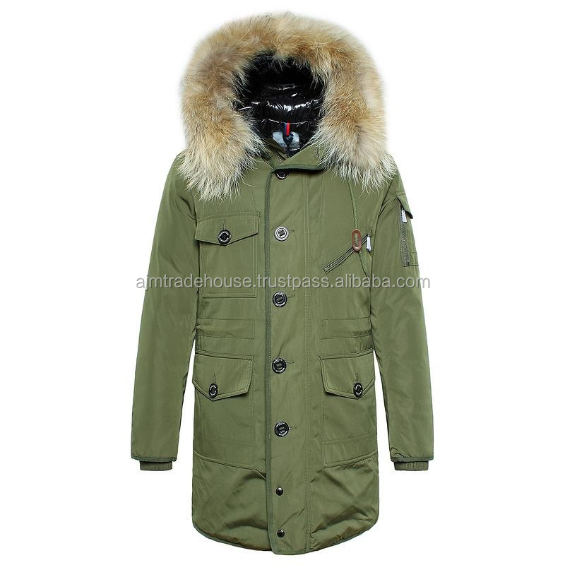 parka jackets - High quality polar fleece lining swim mens parka jacket