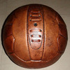 Vintage Leather Football Soccer Ball Real