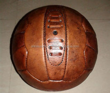 Vintage leather Football soccer ball/real retro leather ball/18 panel/ in real leather