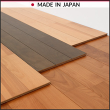 Abrasion resistance,wax free,floor heating compatible engineered birch wood flooring Japan made, euca