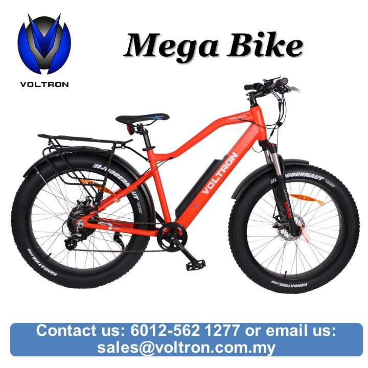 SALES VOLTRON Mega Fat Bike Electric Bicycle 26 x 4 inch Made in Malaysia