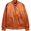 orange satin nylon ma1 flight bomber jackets / custom bomber jackets/ tan bomber jackets