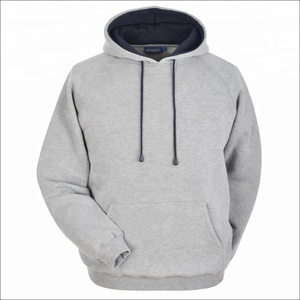 High Quality plain hoodies custom made 100% cotton plain Gray hoodie, sport wear hoodies/sweatshirt for men FSW-4307