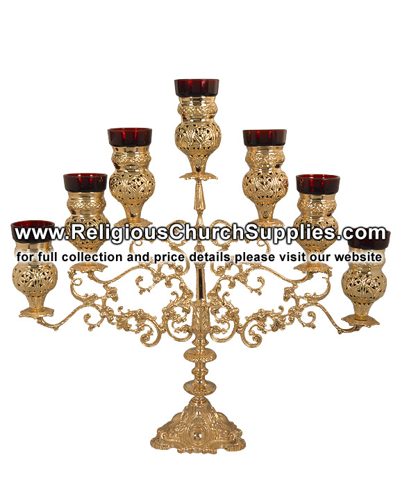 Brass Candelabra Holds 7 Candles