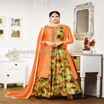 Indian Fancy Bridal and Wedding Fashion Designer Indo Western Suits Woman Wear Dress