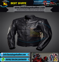genuine leather jacket/2017 Racer Men Leather PU Genuine solid black Cheap jacket/wholesale leather jacket