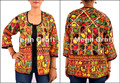 Handmade Embroidered Jacket - indian Embroidered Jackets Coat- Ladies Embroidered Coats/ Cotton Kutch Mirror Jacket