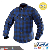 Customized Flannel Kevlar Motorcycle Shirt , Motorcycle Clothing ,Leather Motorcycle Jacket from Relianspo