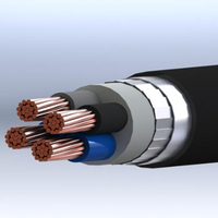 Strength PVC Sheath Best Price 0,6/1 kV PVC Insulated Flat Steel Wire Armoured Multi-Core Cables with Copper Conductor