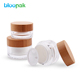 Cosmetic packaging container pet 50ml bamboo cream jar