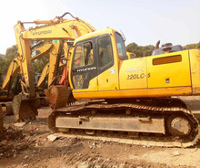 Used hyundai excavators 220 220lc crawler excavator for sale