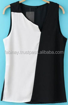 Ladies Sleeveless Cotton Shirt