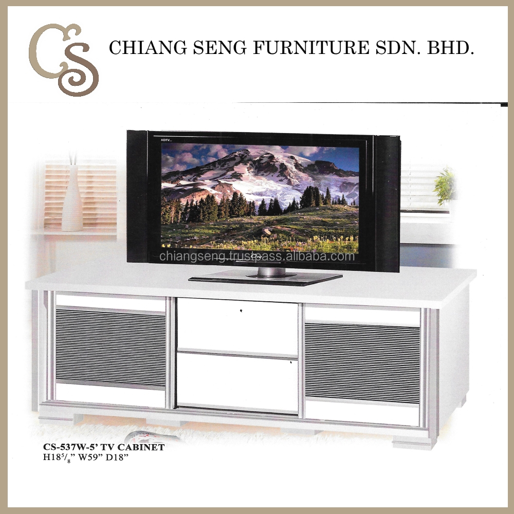 CS-537W-5 Wooden Modern Media TV Cabinets Furniture LCD TV