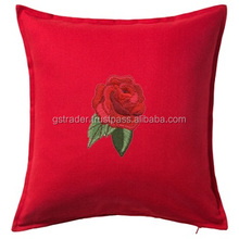 New Design Cotton Embroidered soft seat cushion Rattan Sofa Wooden Sofa Decor Indian Cushion cover