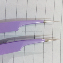Beautiful Bright Color Coated Eyelash Extension Tweezers