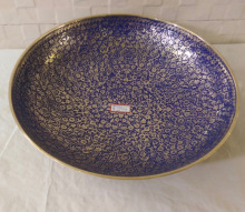 Blue Colored Brass Antique Bowl