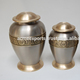 Brass Funeral Cremation Urn with Set of 3 pieces