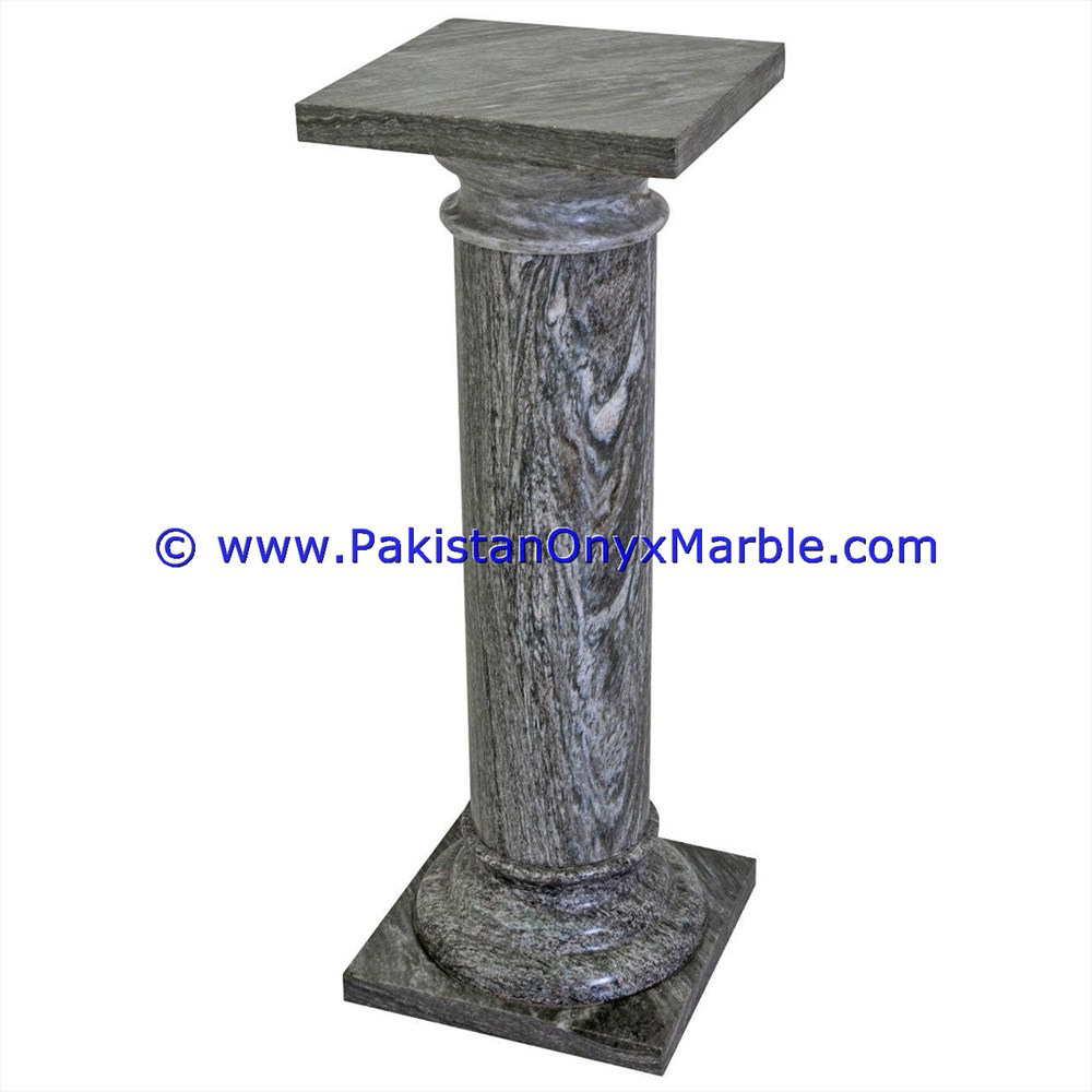 POLISHED BADAL GRAY MARBLE PEDESTALS