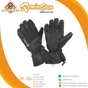 Rs Full Finger Cross Country Gloves With New Design Black Color