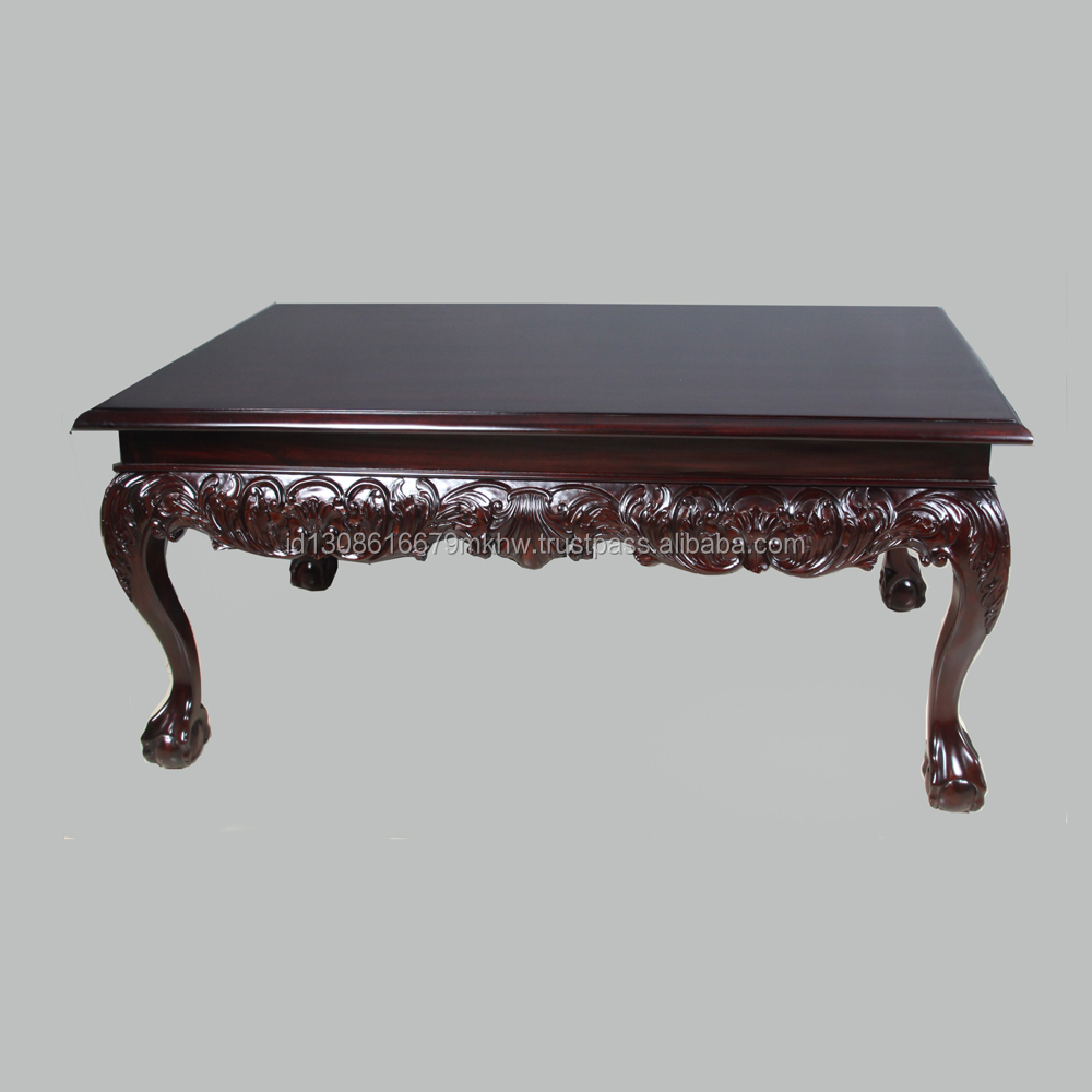 High quality wooden antique coffee table