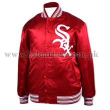 Satin Bomber Jackets mens wholesale fashion winter custom ribbed