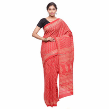 Soundarya new design latest cotton hand block bagru print saree