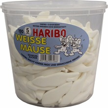Haribo White Mouses 150 Pieces = 1,05kg