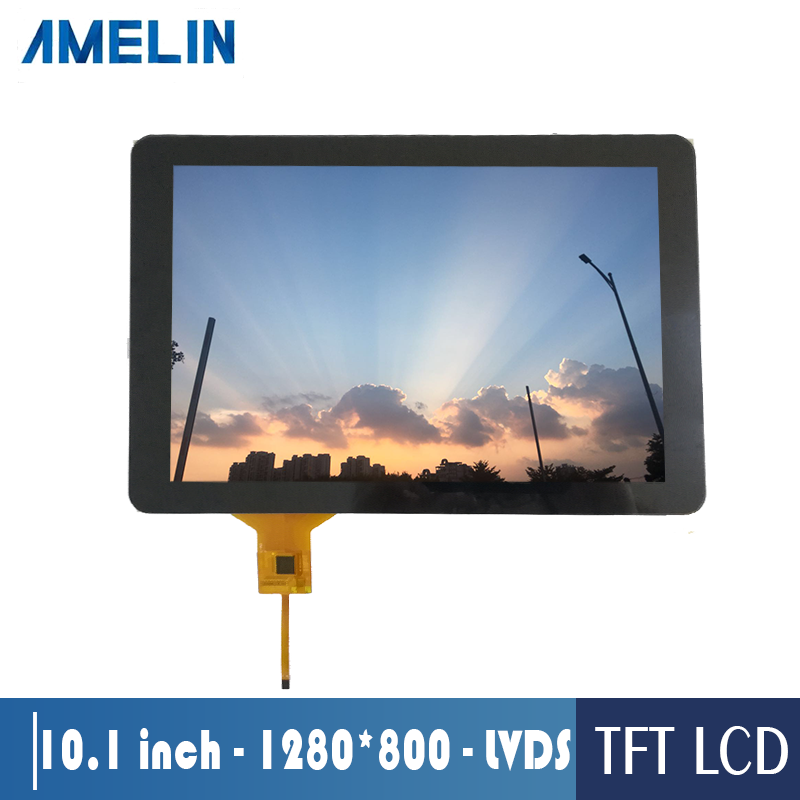 Sunlight readable 10.1 inch 1280*800 IPS LVDS TFT LCD touch screen panel