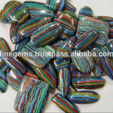 Natural Rainbow Calcica mixed shape gemstones lott