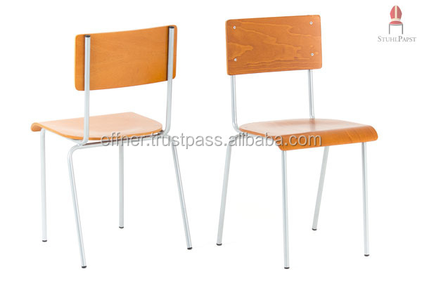 Cas.ino John - Classic stackable wooden chairs , quality design space beautiful
