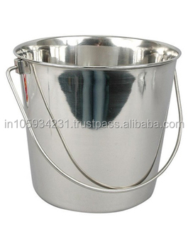 Silver finish - stainless steel pail bucket with out lid