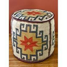 best price indian pouf stool ,wool dhurrie ottoman