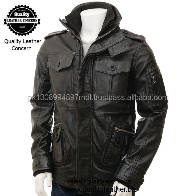 amazing black leather jacket for men is ready for anything & coat which is made of high-grade sheep aniline skin