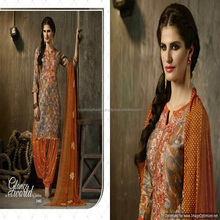glace cotton patiala salwar with dupatta / cotton patiala salwar suit / printed phulkari patiala salwar suit