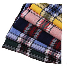 2019 High Quality 100% Cotton yarn dyed plaid fabrics for women shirts and school uniform