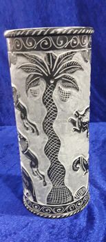 Soapstone Black Marble Flower Vase Hand Carved