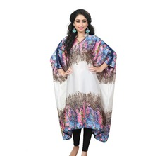 Animal Printed Style Free Size Kaftan / Fancy Collar Neck Calf Length Kaftan For Party Wear / Latest Night Dress(kaftans 2017)