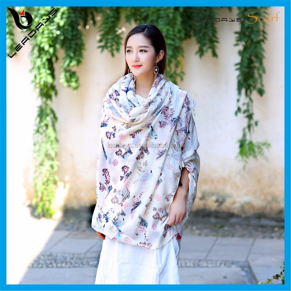 Fashion young printed decorate small fresh scarf wholesale