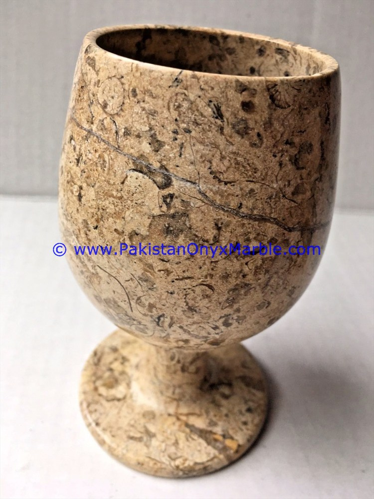 WIDE VARIETY OF FOSSIL MARBLE WINE GLASSES GOBLETS