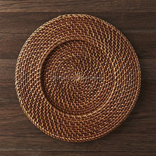 Wedding natural rattan charger plate
