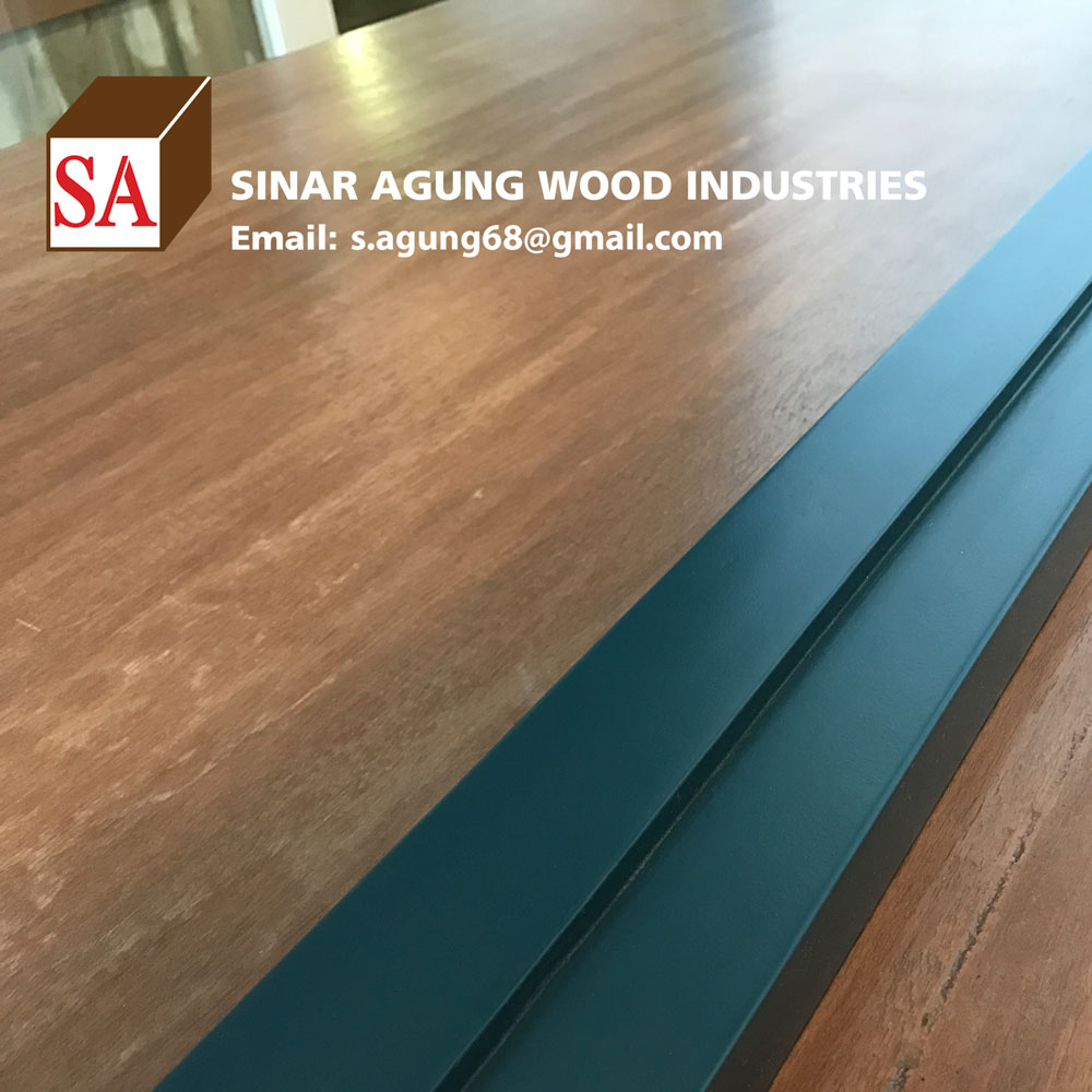 Best Selling Square Primed Mahogany Pine wood board for Door Jamb Black Color