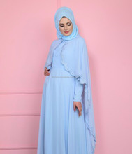 Sky Blue Very Unique Colour Abaya Stylish Wedding Dress