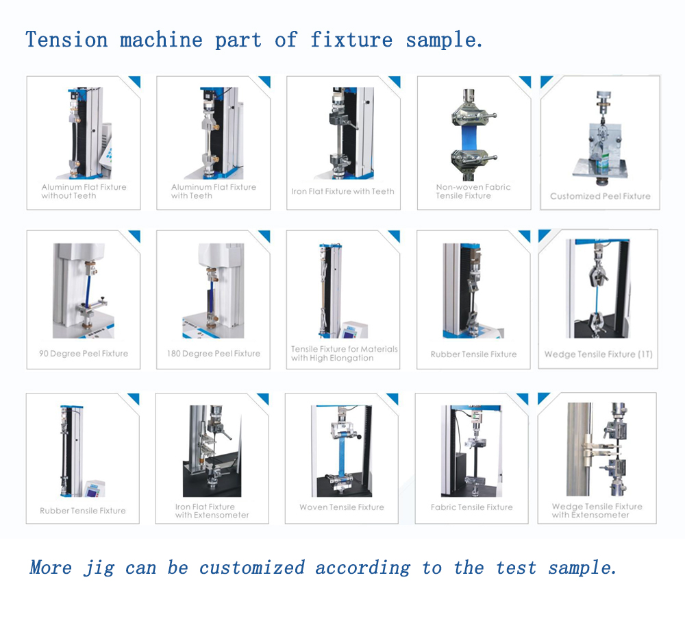 Strength Tester Meter Measurement Compression And Elongation Test Adhesion Rebar Push Pull Tensile Stress Testing Machine